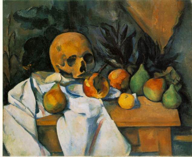cezanne's stilllife iwth skull