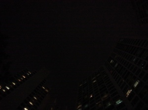 Night of Korea, apartment windows